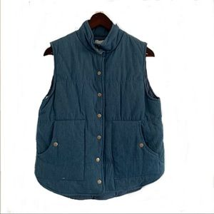 Gilli Insulated Chambray Blue Vest S